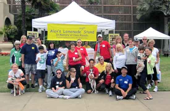 Celebrating Mama's Kitchen and Alex's Lemonade 5K walk